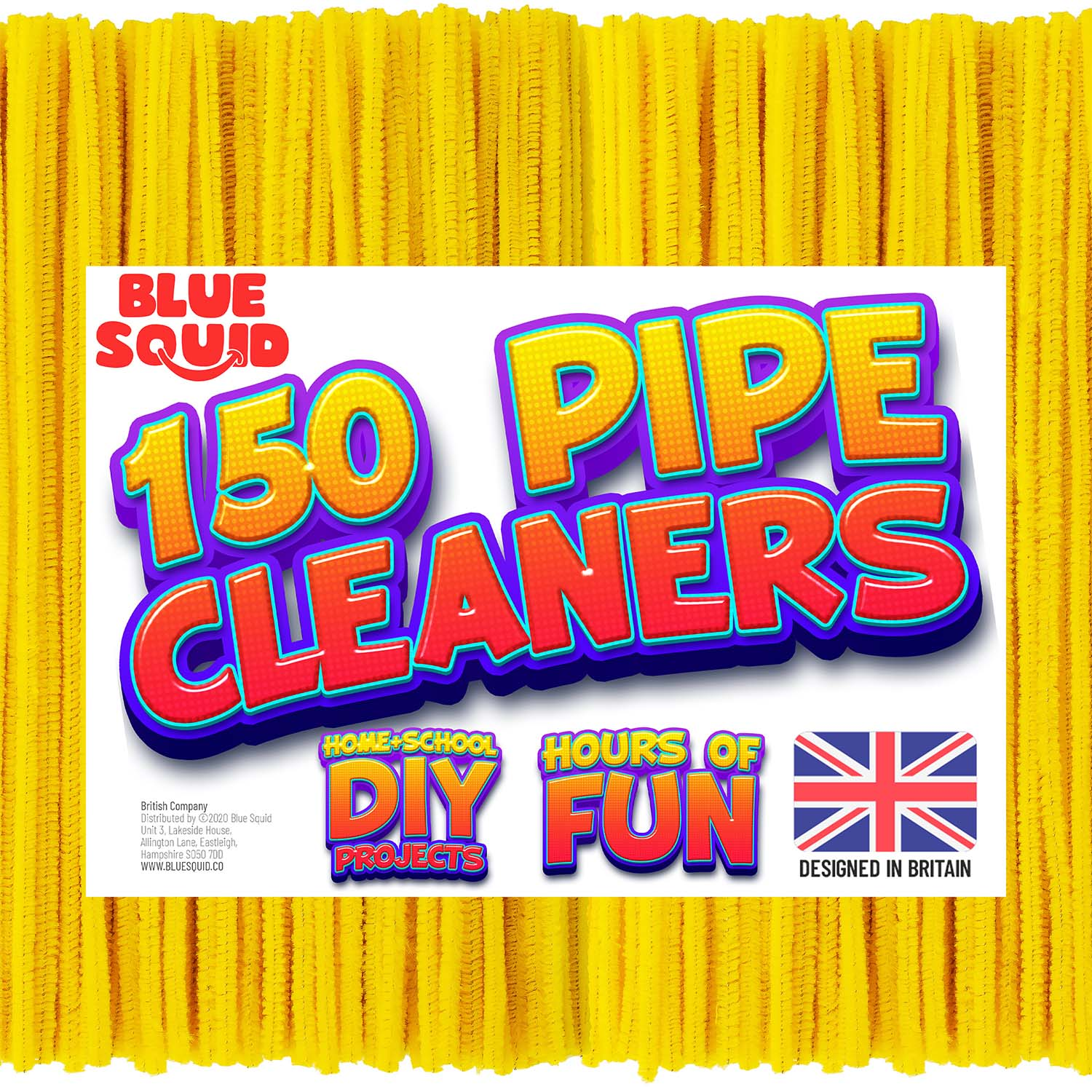 150 Yellow Pipe Cleaners Craft Chenille Stems