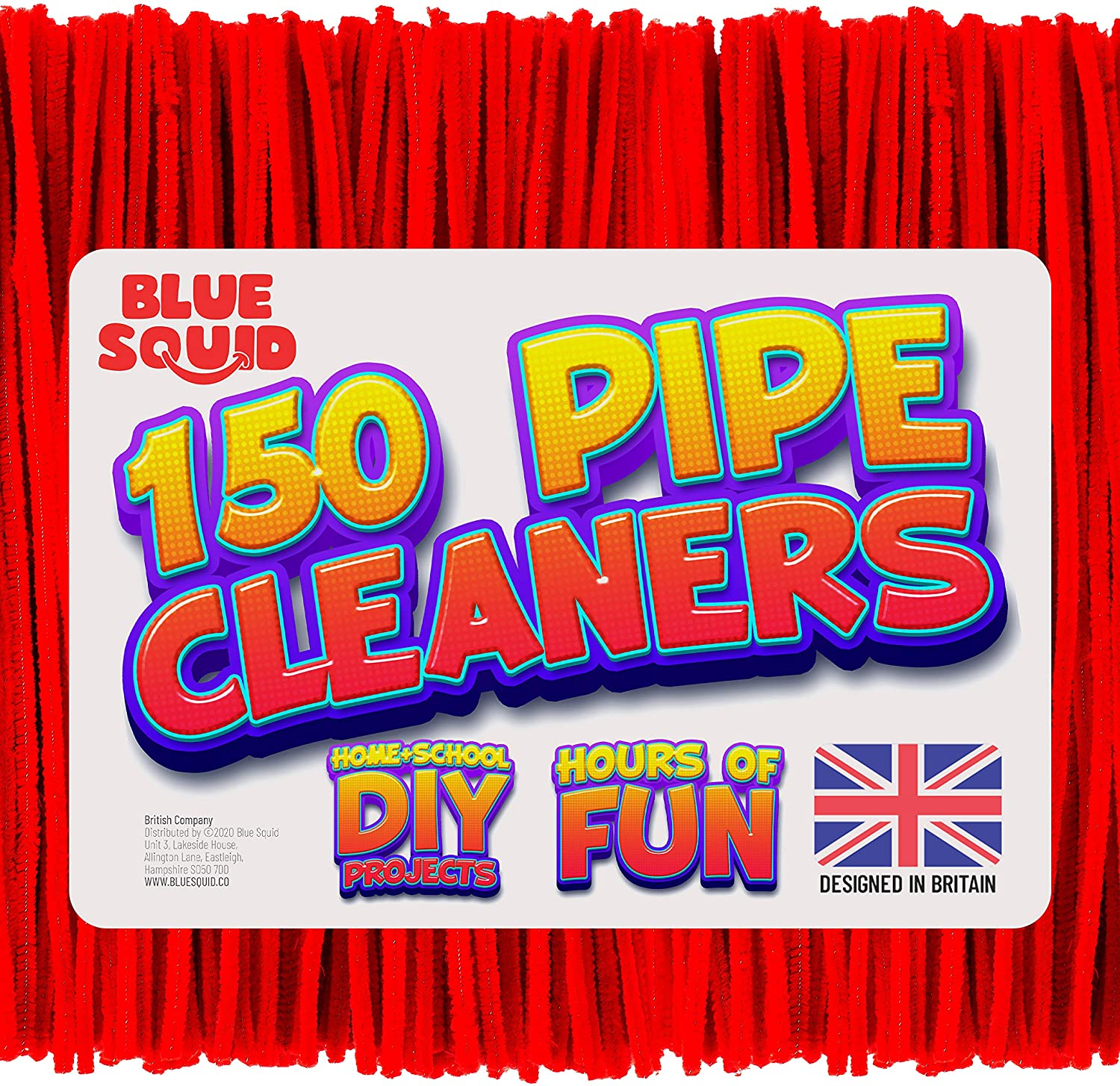 150 Red Pipe Cleaners Craft Chenille Stems