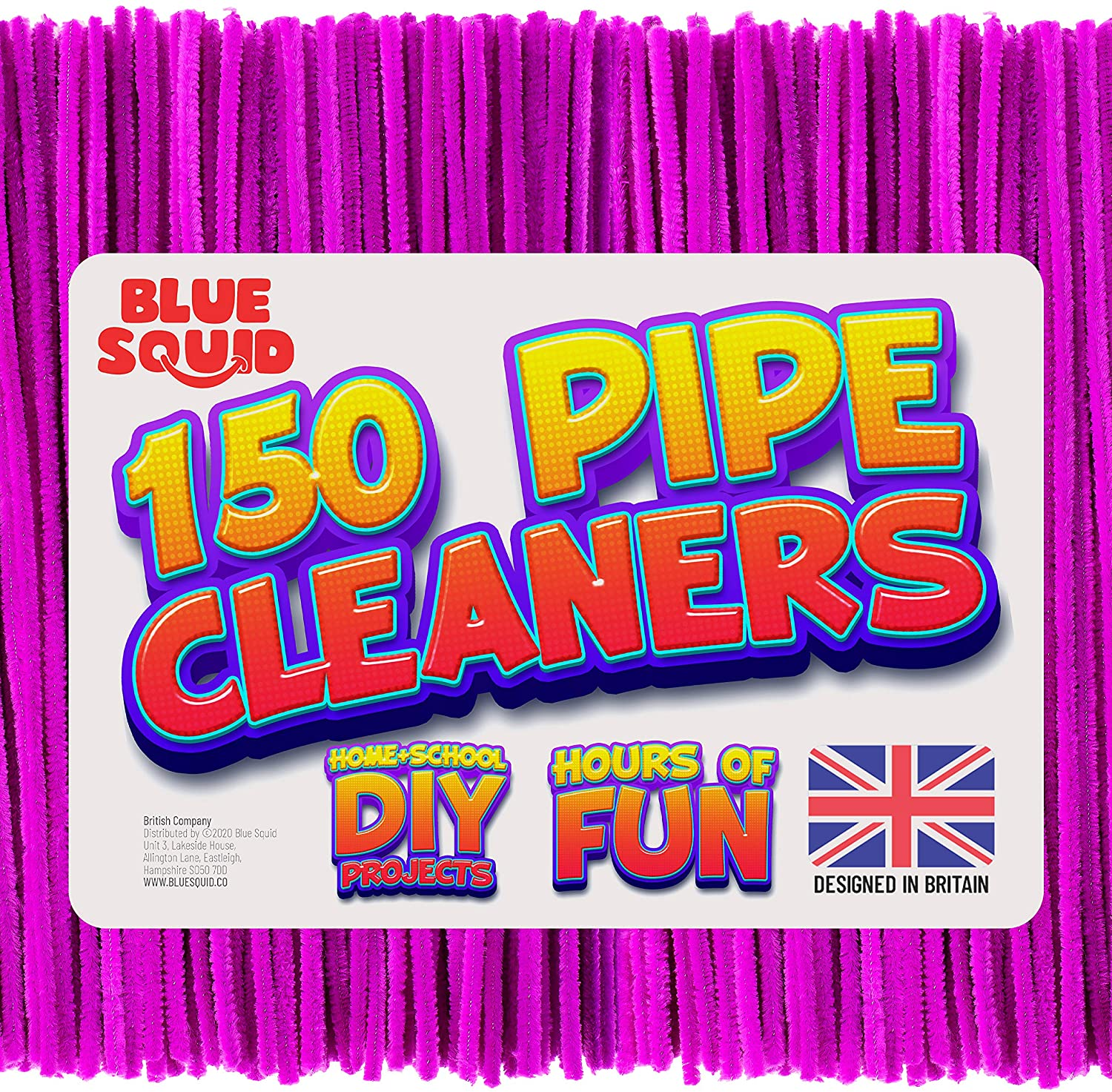 150 Purple Pipe Cleaners Craft Chenille Stems