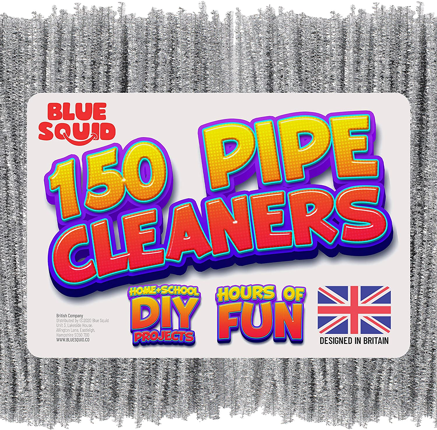 150 metallic silver Pipe Cleaners Craft Chenille Stems