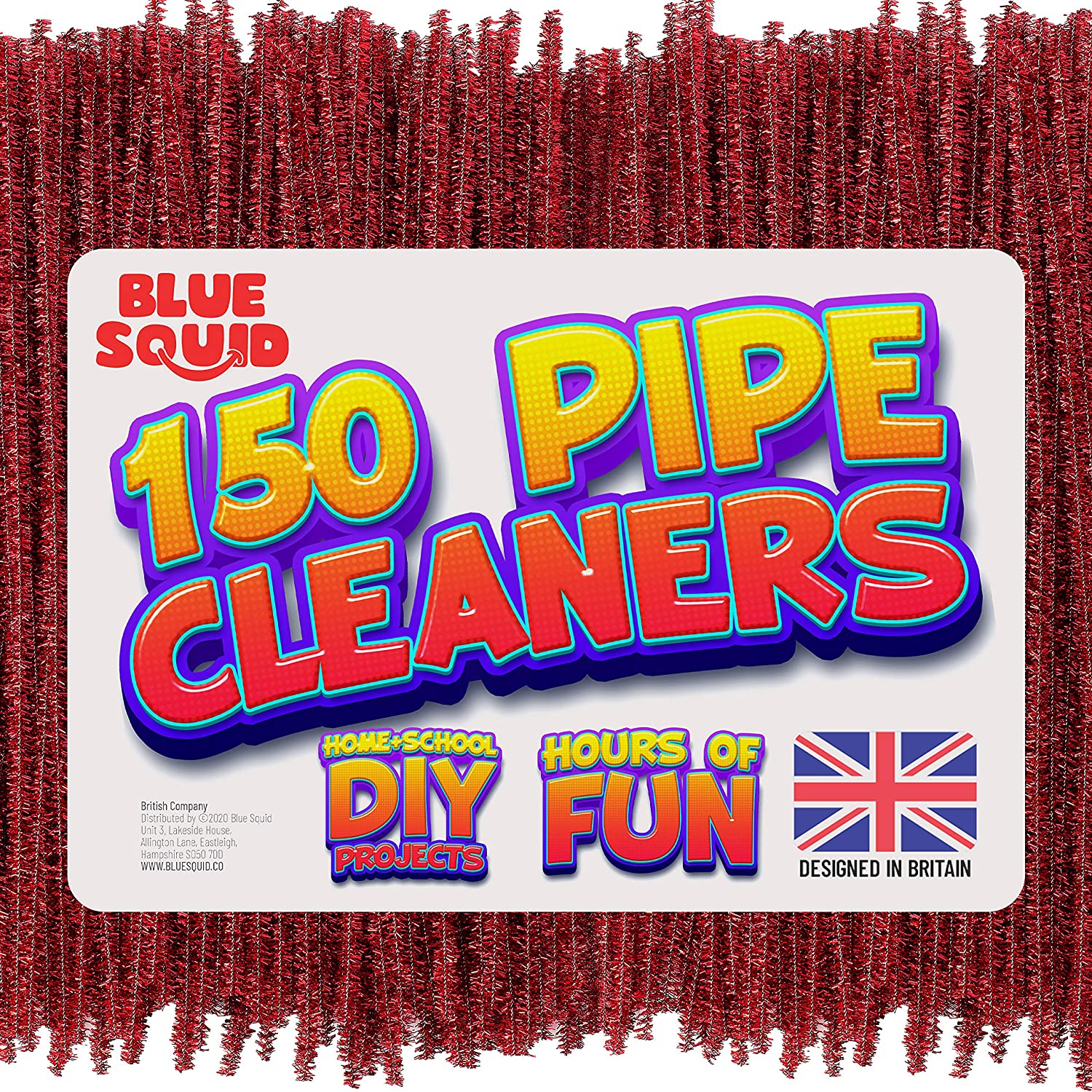 150 metallic red Pipe Cleaners Craft Chenille Stems