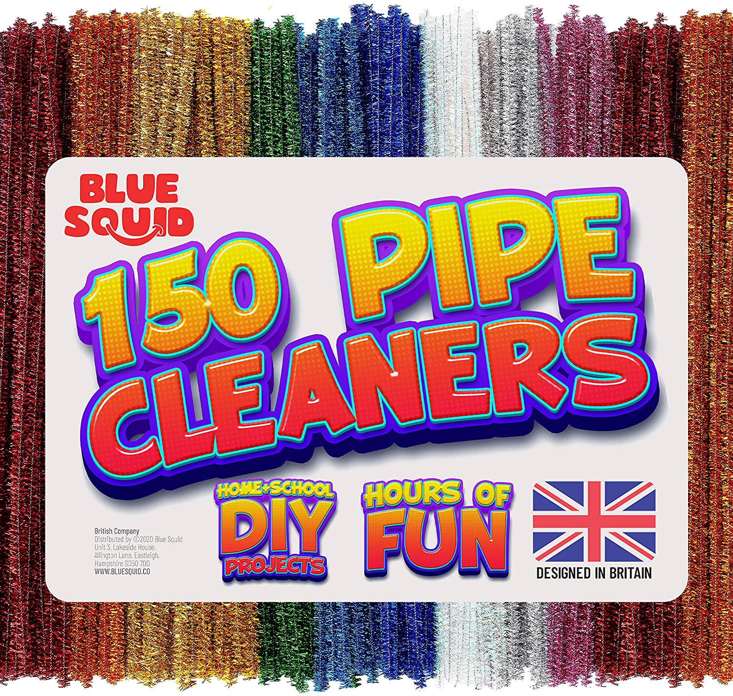 150 metallic multicoloured Pipe Cleaners Craft Chenille Stems