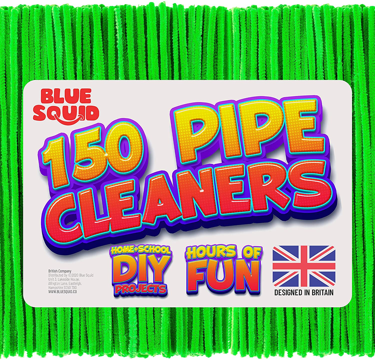 150 Green Pipe Cleaners Craft Chenille Stems