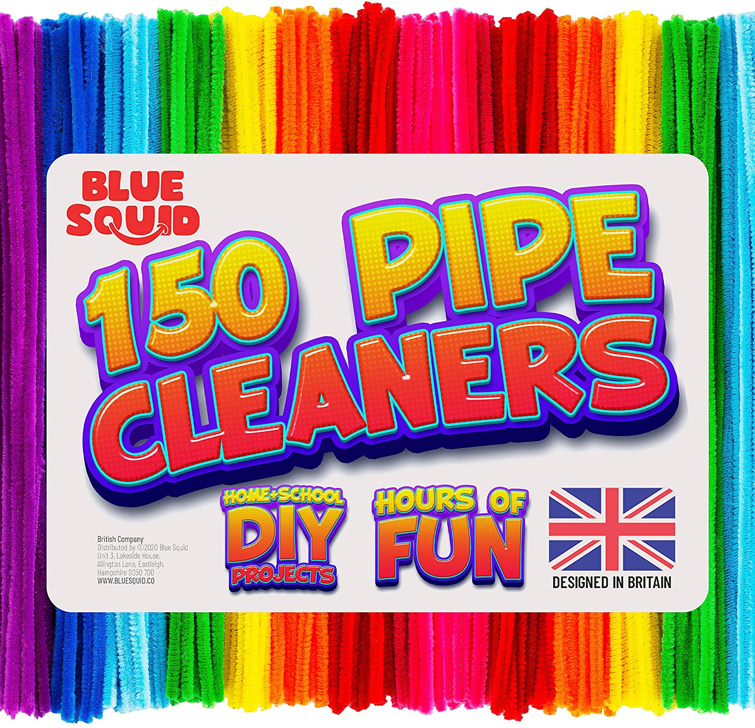 150 multicoloured Pipe Cleaners Craft Chenille Stems
