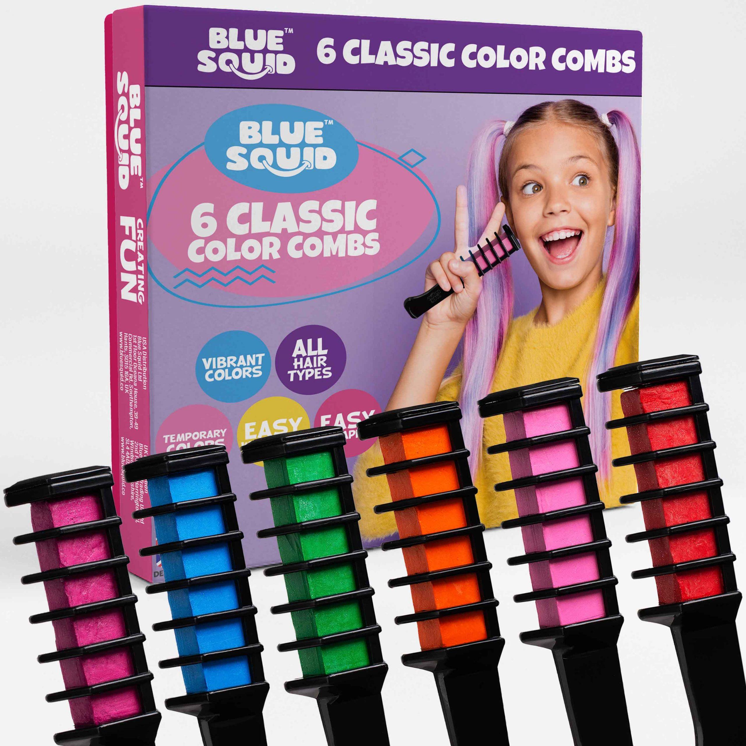 6 Classic Colour Chalk Combs
