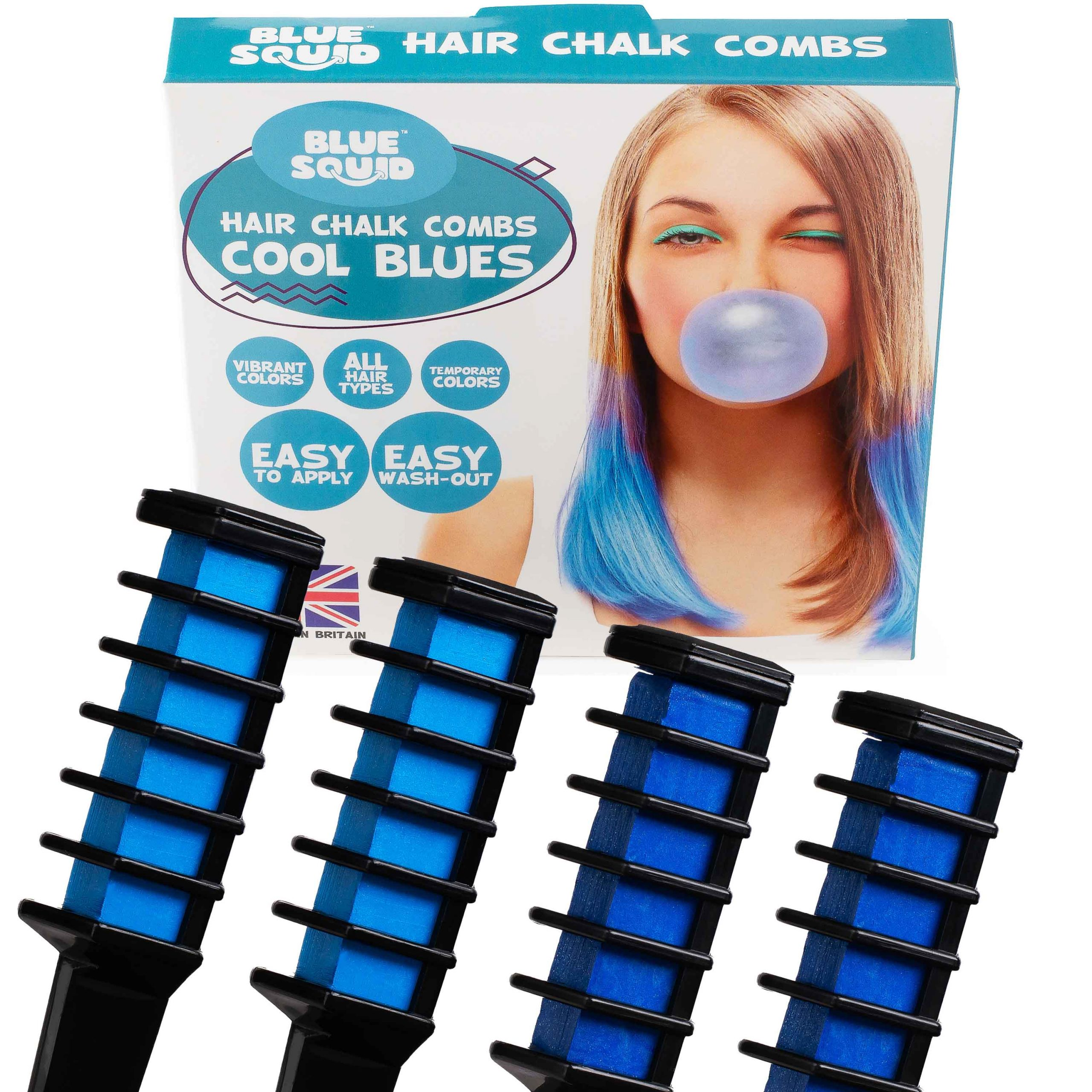 Cool Blues Hair Chalk Combs