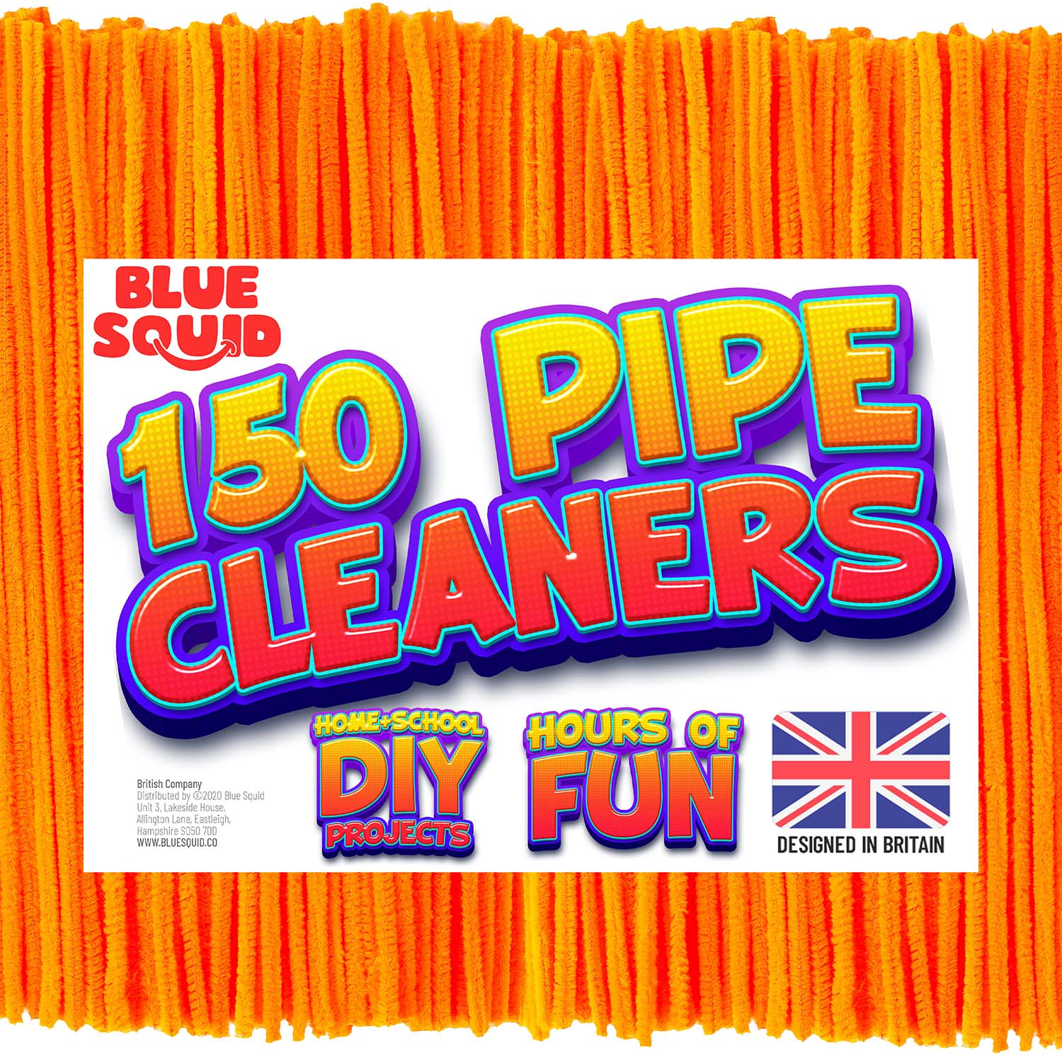 150 Orange Pipe Cleaners Craft Chenille Stems