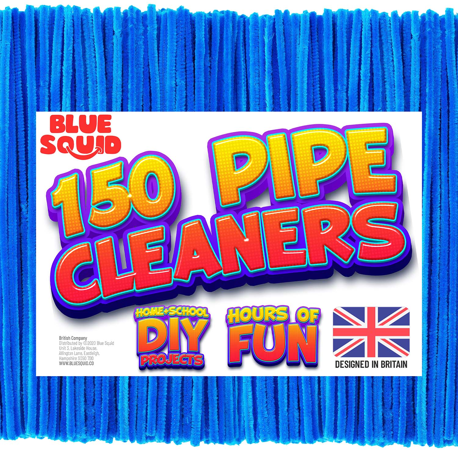 150 Blue Pipe Cleaners Craft Chenille Stems