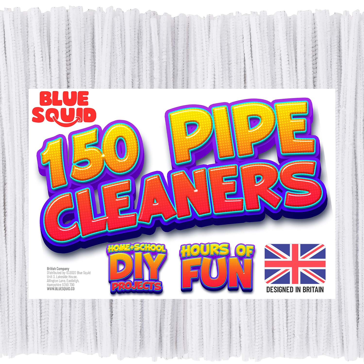 150 White Pipe Cleaners Craft Chenille Stems