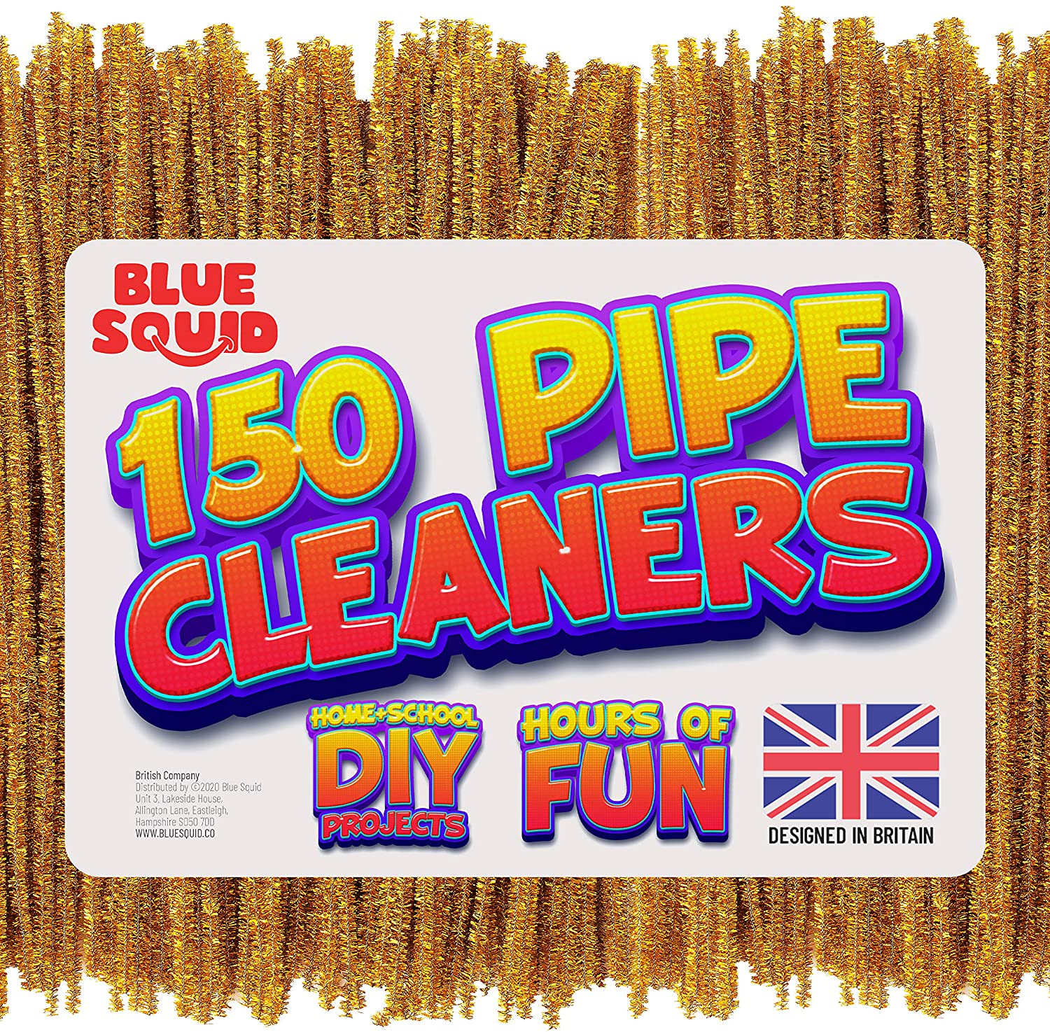 150 metallic gold Pipe Cleaners Craft Chenille Stems