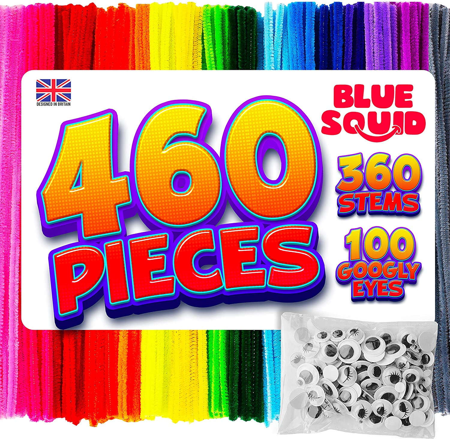 460 Pipe Cleaners Craft Chenille Stems
