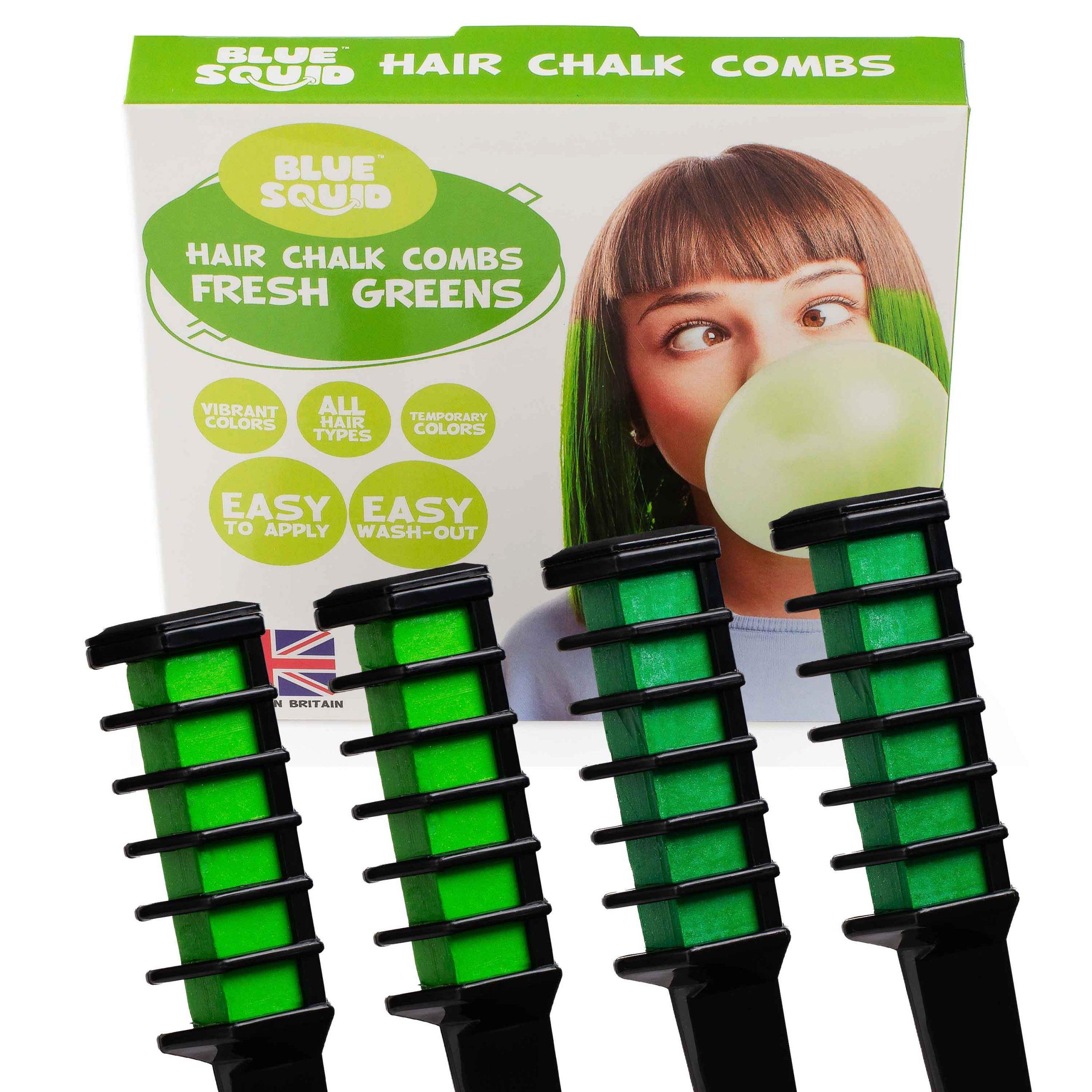 Fresh Green Hair Chalk Combs