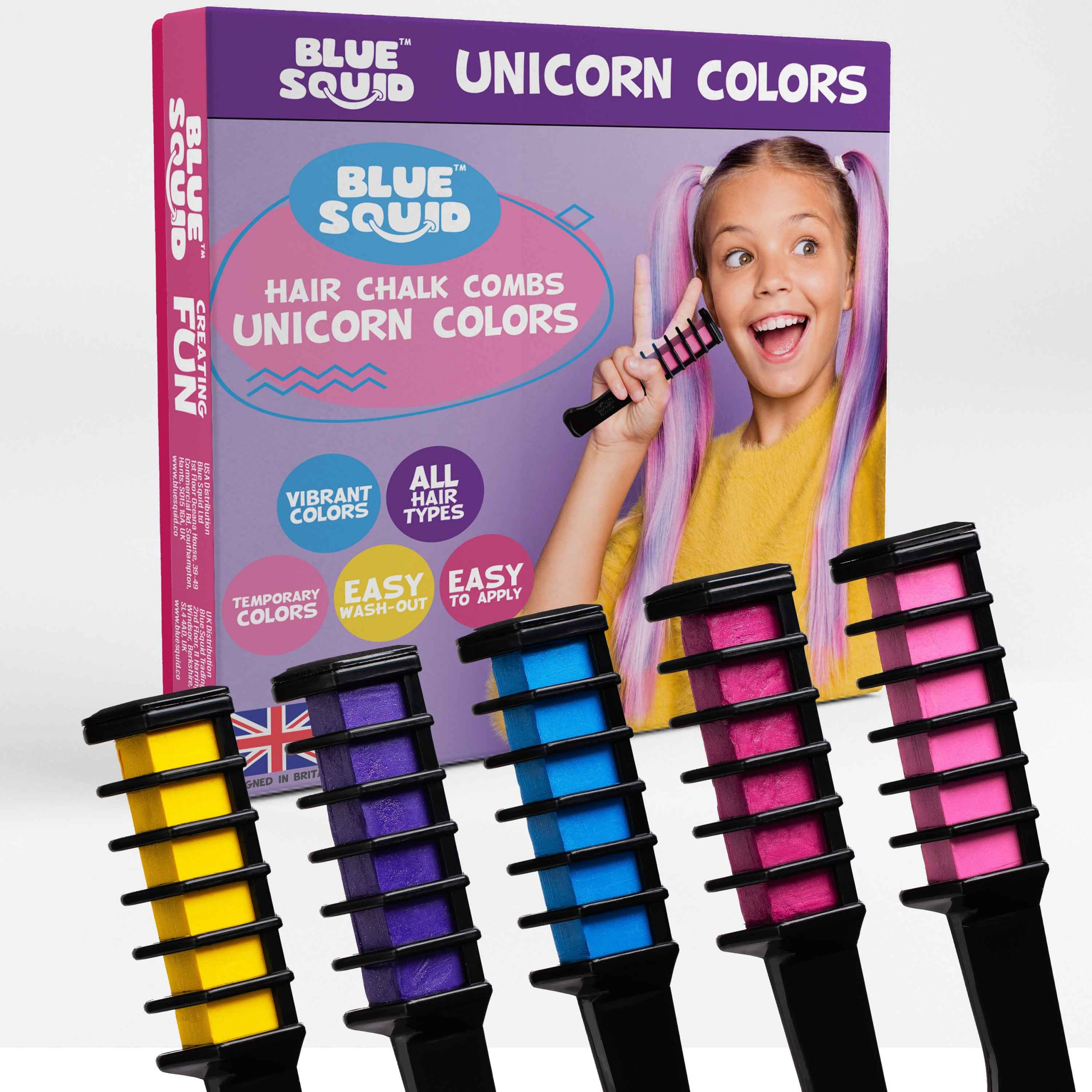 Unicorn Hair Chalk Combs