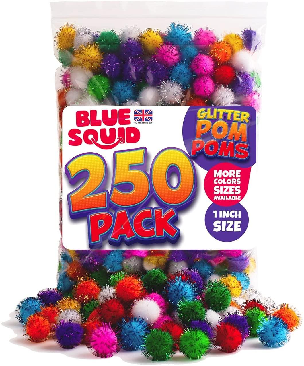 250 GLITTER POMPOMS